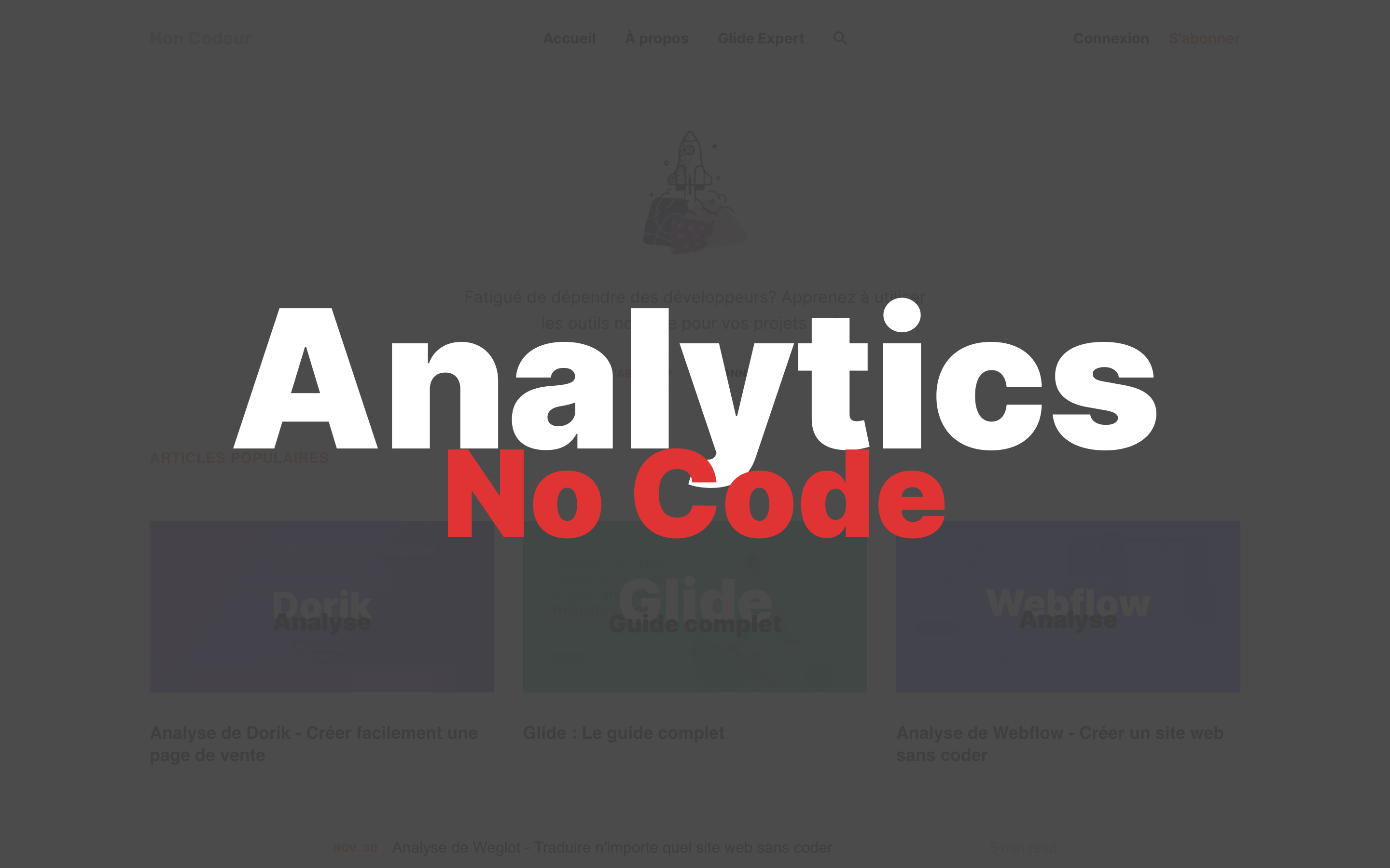 4 alternatives no code à Google Analytics