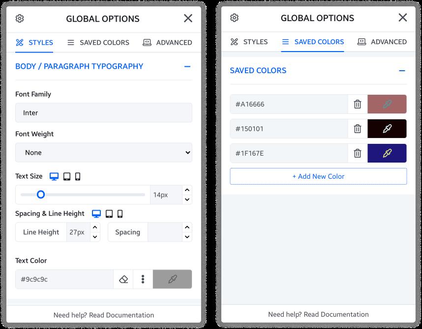 Dorik Global Options