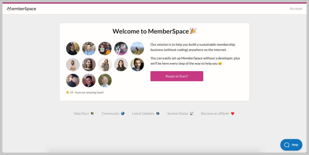 Bienvenue sur Memberspace