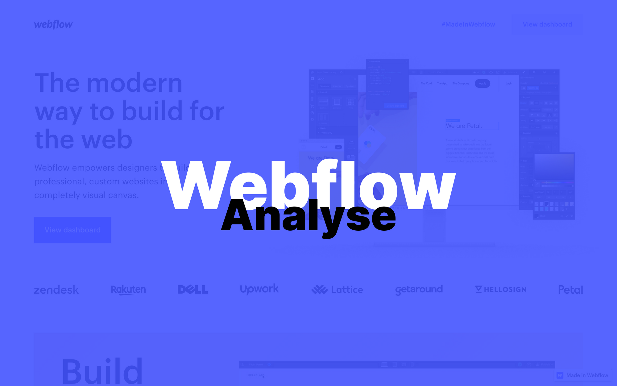 Analyse de Webflow - Créer un site web sans coder